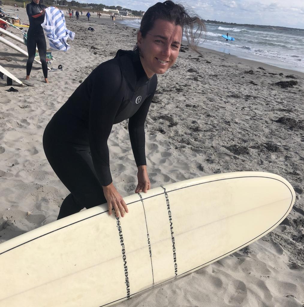 Katie surfing again
