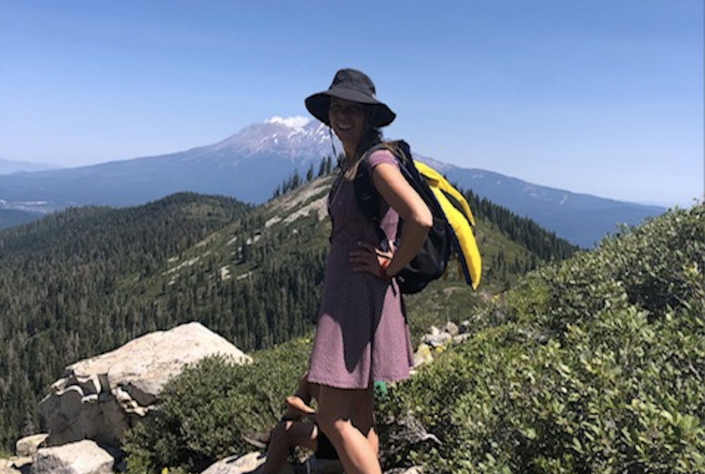 Dr. Cat on hike